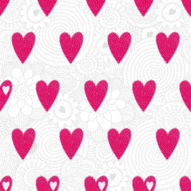Cute hearts. Seamless pattern can be used for wallpaper, pattern fills, web page background, surface textures. clip art vector