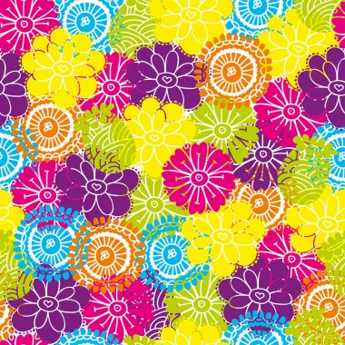 Decorative seamless pattern with bright colors in the vector. clip art vector