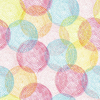 Seamless pattern with bright circles. Seamless pattern can be used for wallpaper, pattern fills, web page background, surface textures. clip art vector