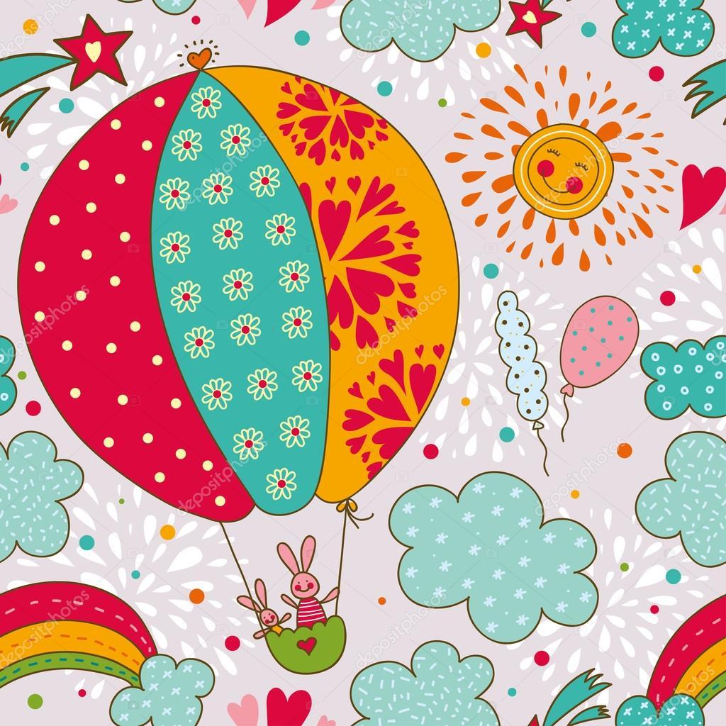 Fondos Variados..... - Página 14 Depositphotos_41555557-stock-illustration-cheerful-rabbits-are-flying-in