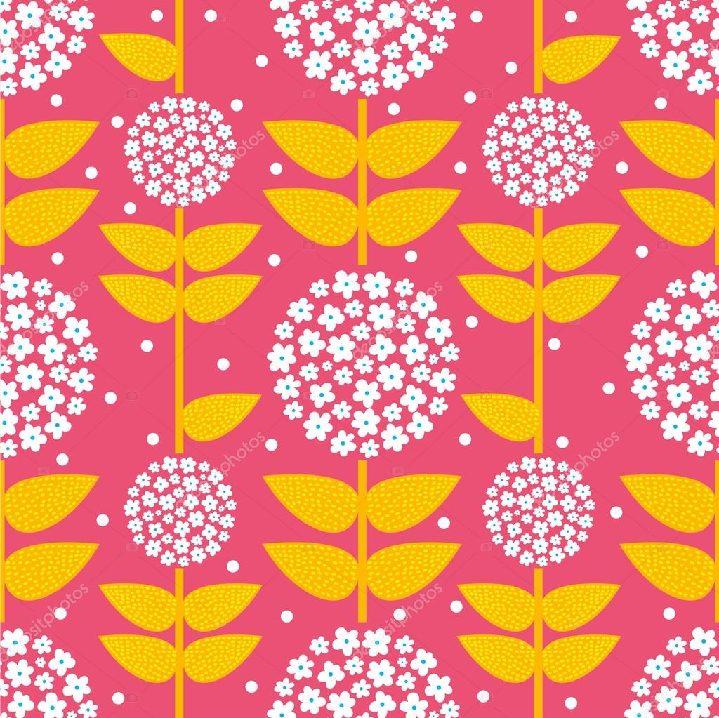 Ornate seamless pattern with the leaves.