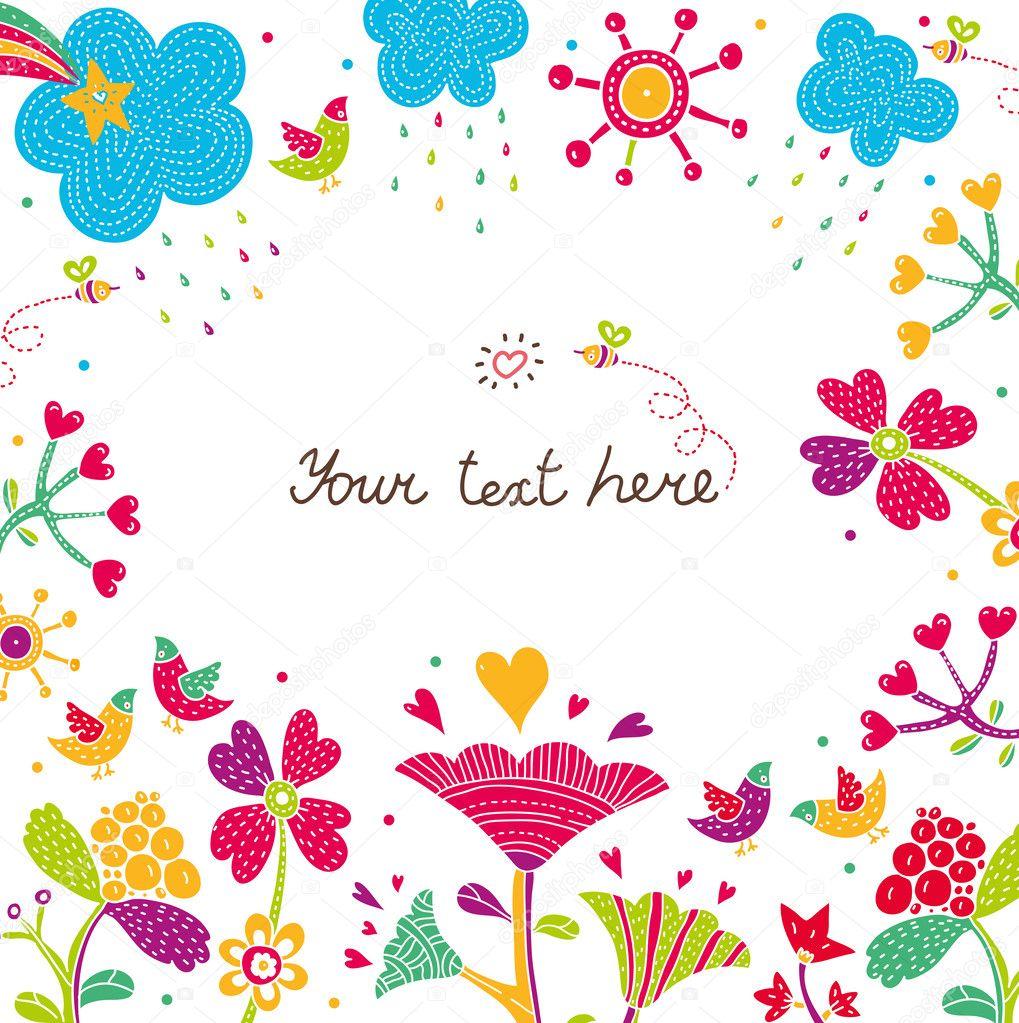 Flower postcard.