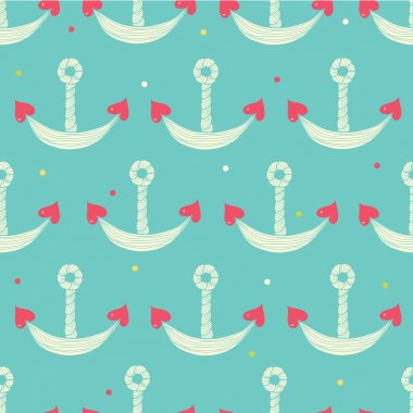 Cute sea Seamless pattern