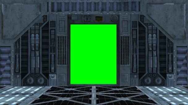 űrhajó belső ajtó nyílik és záródik
