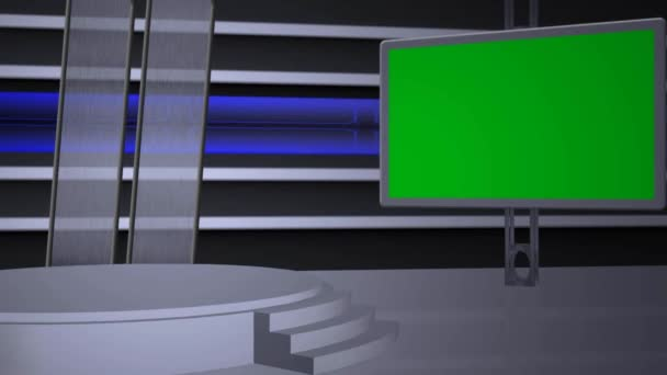Virtual studio background - green screen
