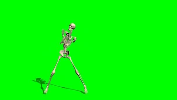 Skeleton dance - green screen effect — Stock Video ...