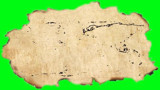 svět - kreslení animací na starý pergamen