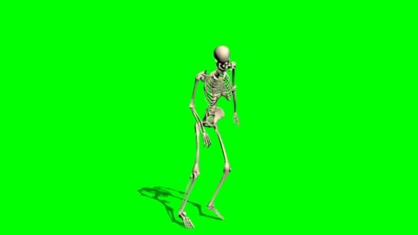 csontváz megy előre - nyomorék zöld képernyő