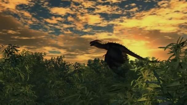 Sárkány repül át a bamboo forest sunset háttér