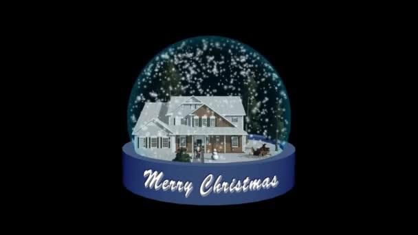 Vánoční sněhová koule animace - černá obrazovka