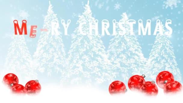 Veselé Vánoce animace - zelená obrazovka