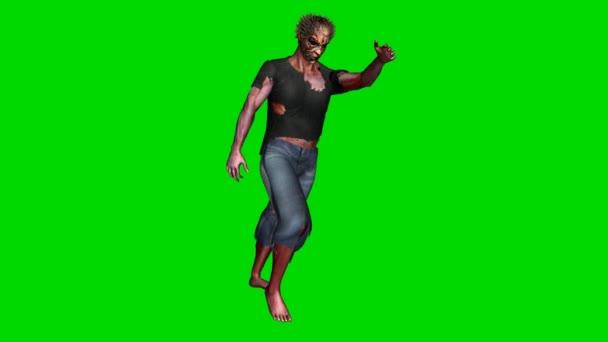 Zombie goes - green screen