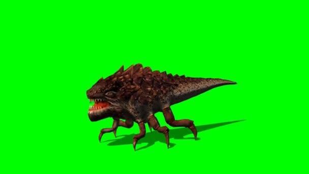 monster brouk tvor útoky - zelená obrazovka