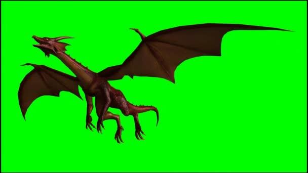 Sárkány-glide repülés - zöld képernyő