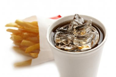 Drink and french fries