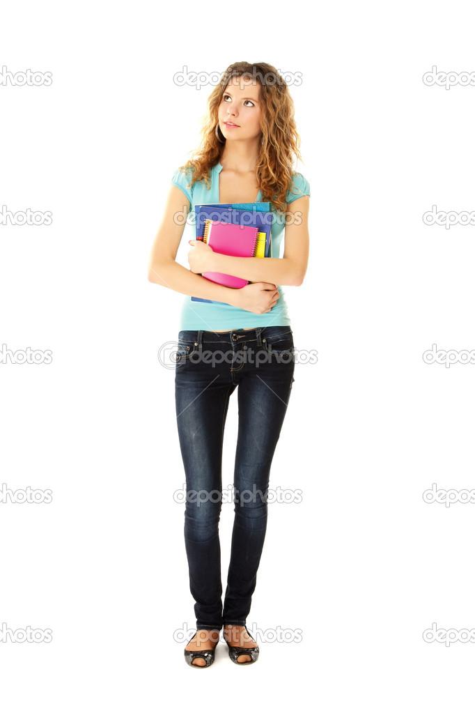 College-Mädchen-Junge