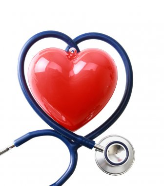 Stethoscope in the shape of a heart