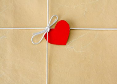 Bow from a string with valentine card