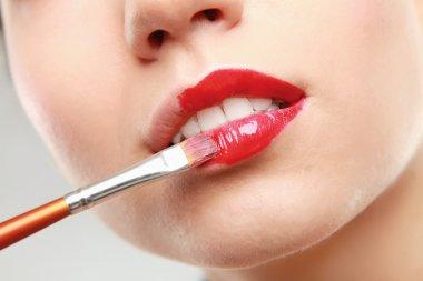 Professional Make-up. Lipgloss