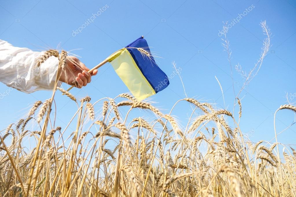 Ukrainian patriot with a flag