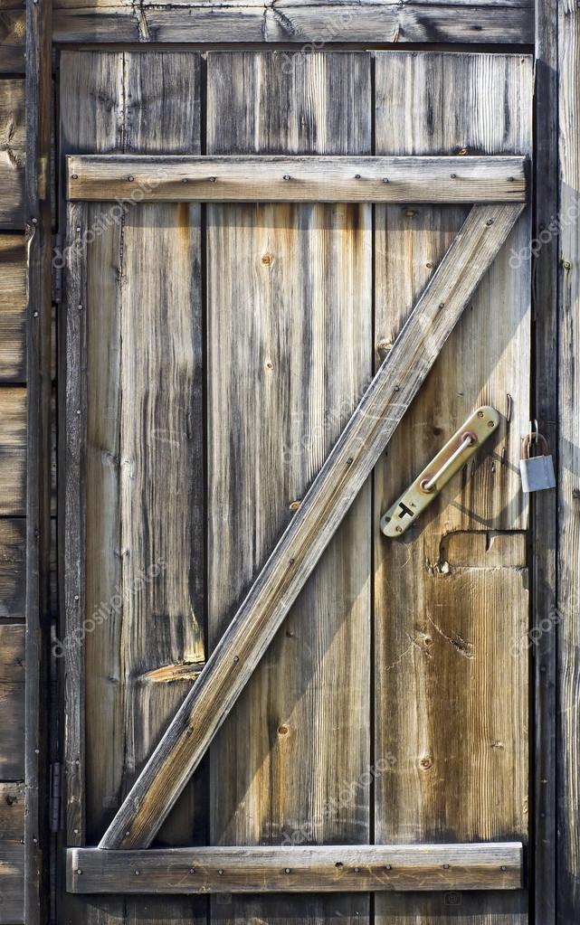 Porte en bois d 39 une cabane de bord de mer photographie ximinez 42182207 - Porte cabane bois ...