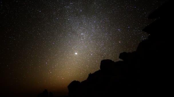 astrophotography čas zanikla noc na den v poušti