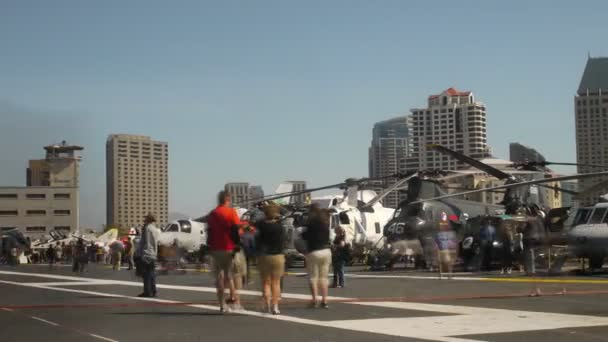 Helicopters at USS Midway