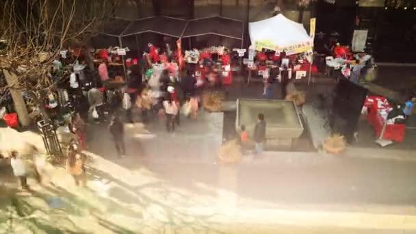 Crowds enjoying Outdoor Market in Little Tokyo