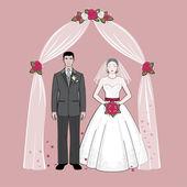 Fényképek menyasszony és a vőlegény