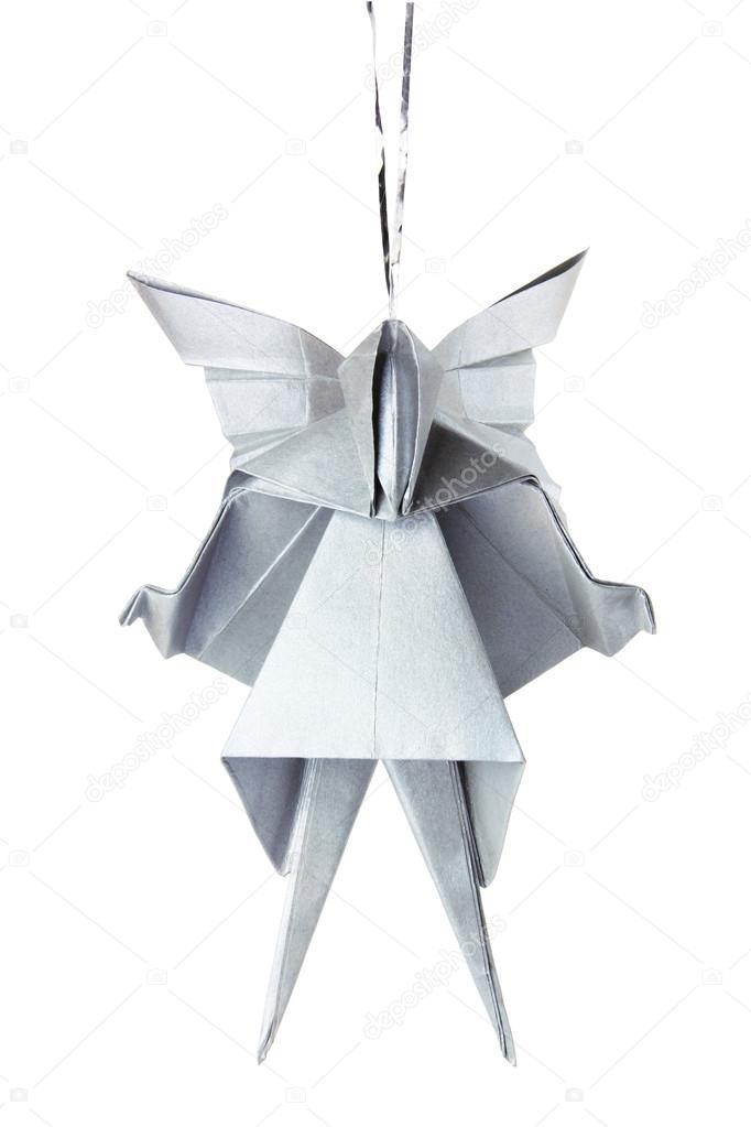 Christmas Silver Origami Angel Stock Photo Mandrixta 41279231