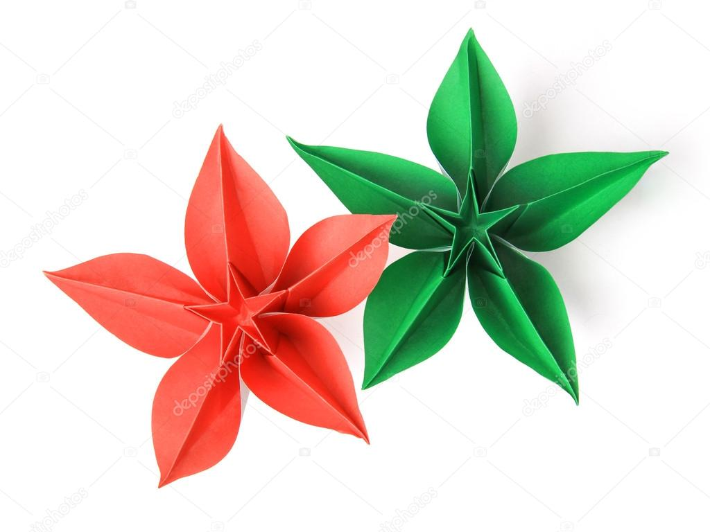 origami blume stockfoto mandrixta 41279609. Black Bedroom Furniture Sets. Home Design Ideas