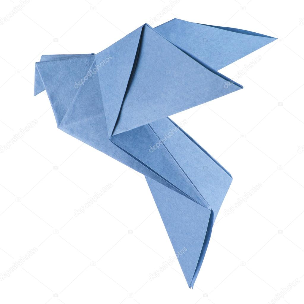 Isolated Origami Dove Stock Photo