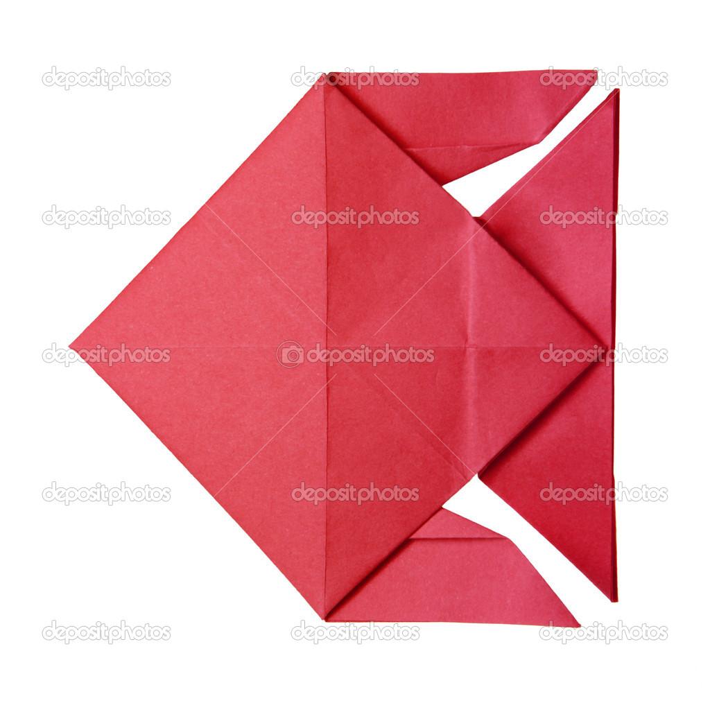 Pesce Rosso Di Origami Foto Stock Mandrixta 41279963