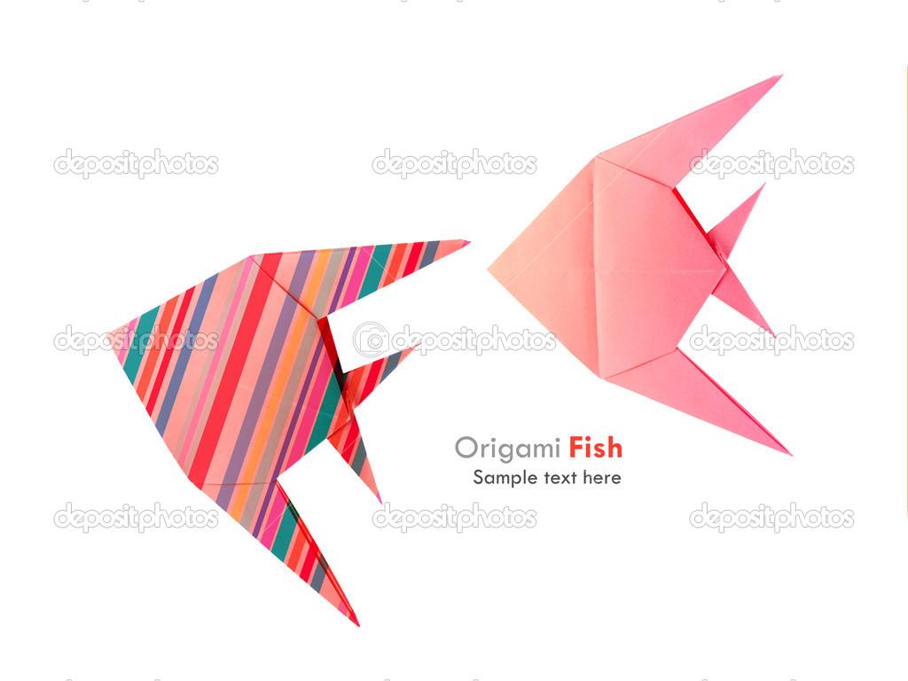 Origami Vis Set Stockfoto Mandrixta 41279969