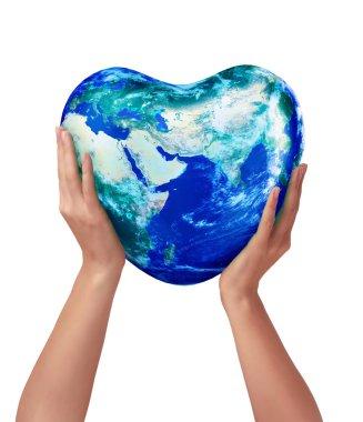 3d earth heart