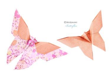Pink butterflies set