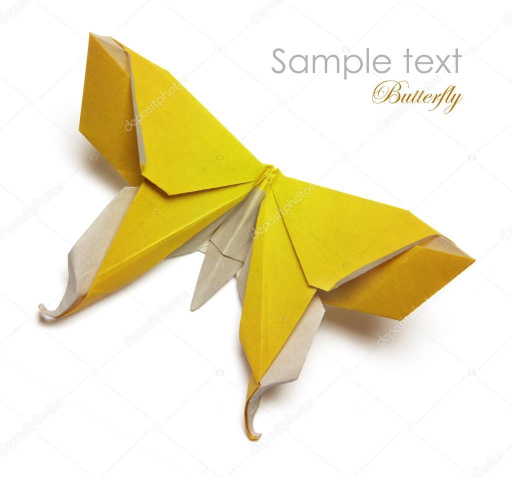 Gele Origami Vlinder Stockfoto Mandrixta 41280091