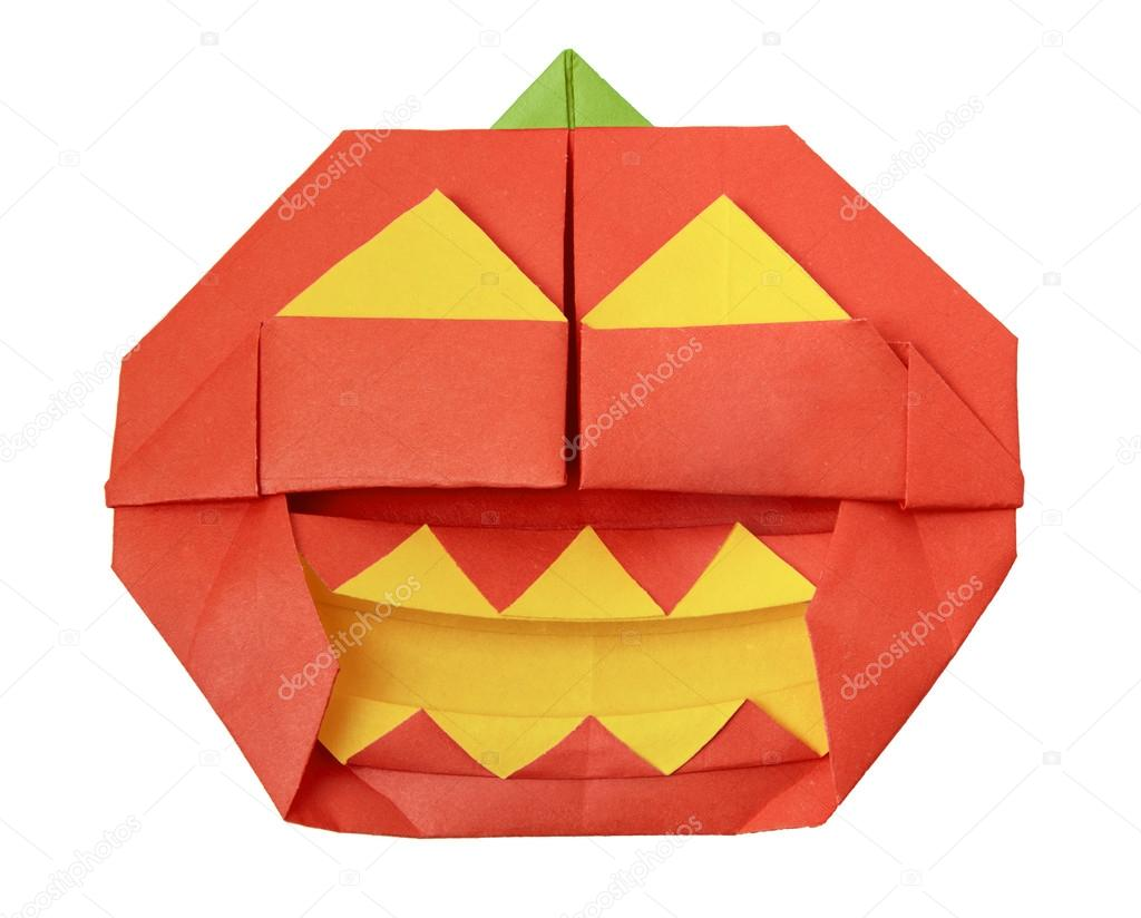 Halloween origami pumpkin — Stock Photo © mandrixta #41280617