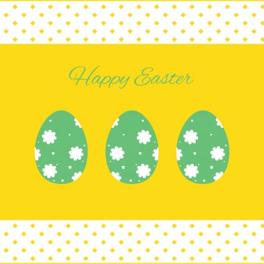 Happy easter cards illustration with easter eggs