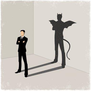 Shadow in vector stock vector