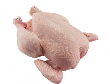 Free Range Whole Chicken, Isolated