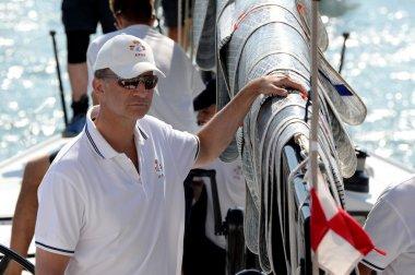 Spanish King Felipe VI in King's Cup Sailing celebrated in Majorca, Aug 2014.