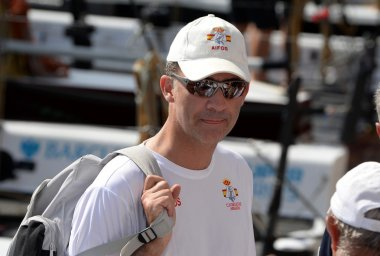 Spanish King Felipe VI in King's Cup Sailing celebrated in Majorca, Aug 2014.