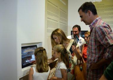 Spanish Royal Family in Raixa, a public estate in Serra de Tramuntana in Mallorca during the holidays. August 2014