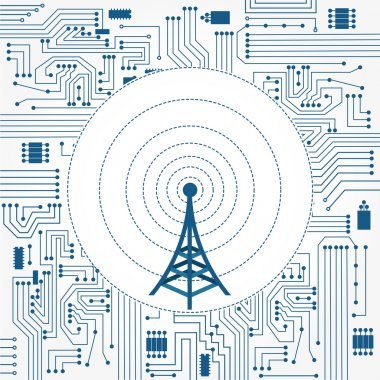 Communication tower and electronics circuit