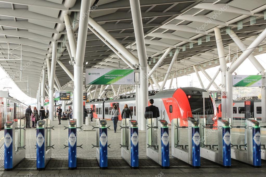 Lastochka Train At Olympic Park Station In Sochi Stock Photo 42620025