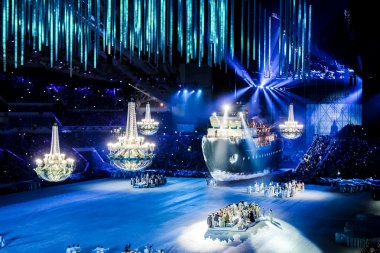 Giant ship at the Opening Ceremony of Winter Paralympics 2014