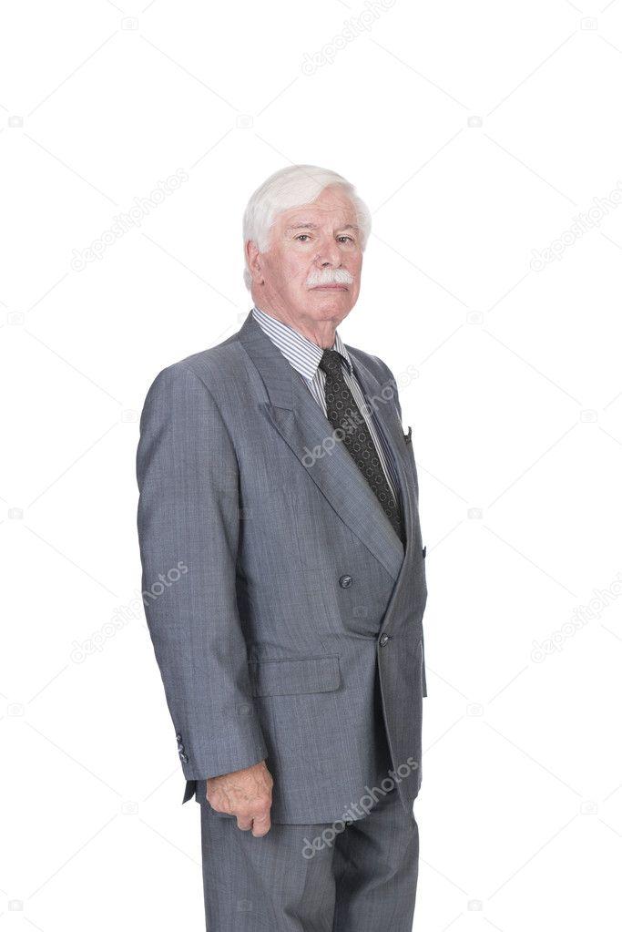 alter mann anzug