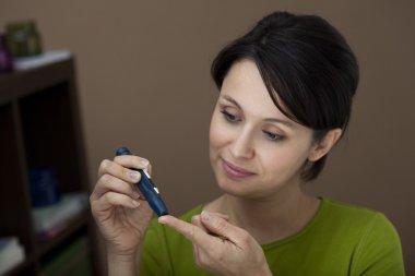 TEST FOR DIABETES, WOMAN