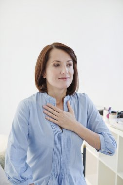Woman breathing